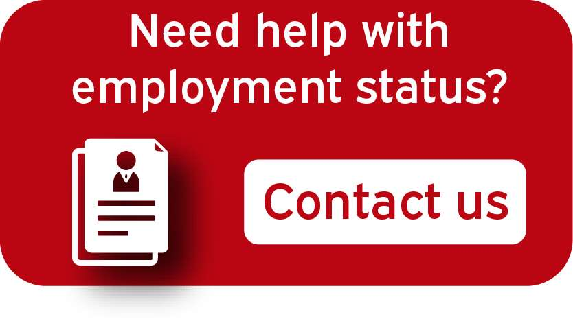 Employment Status Services Contact us button