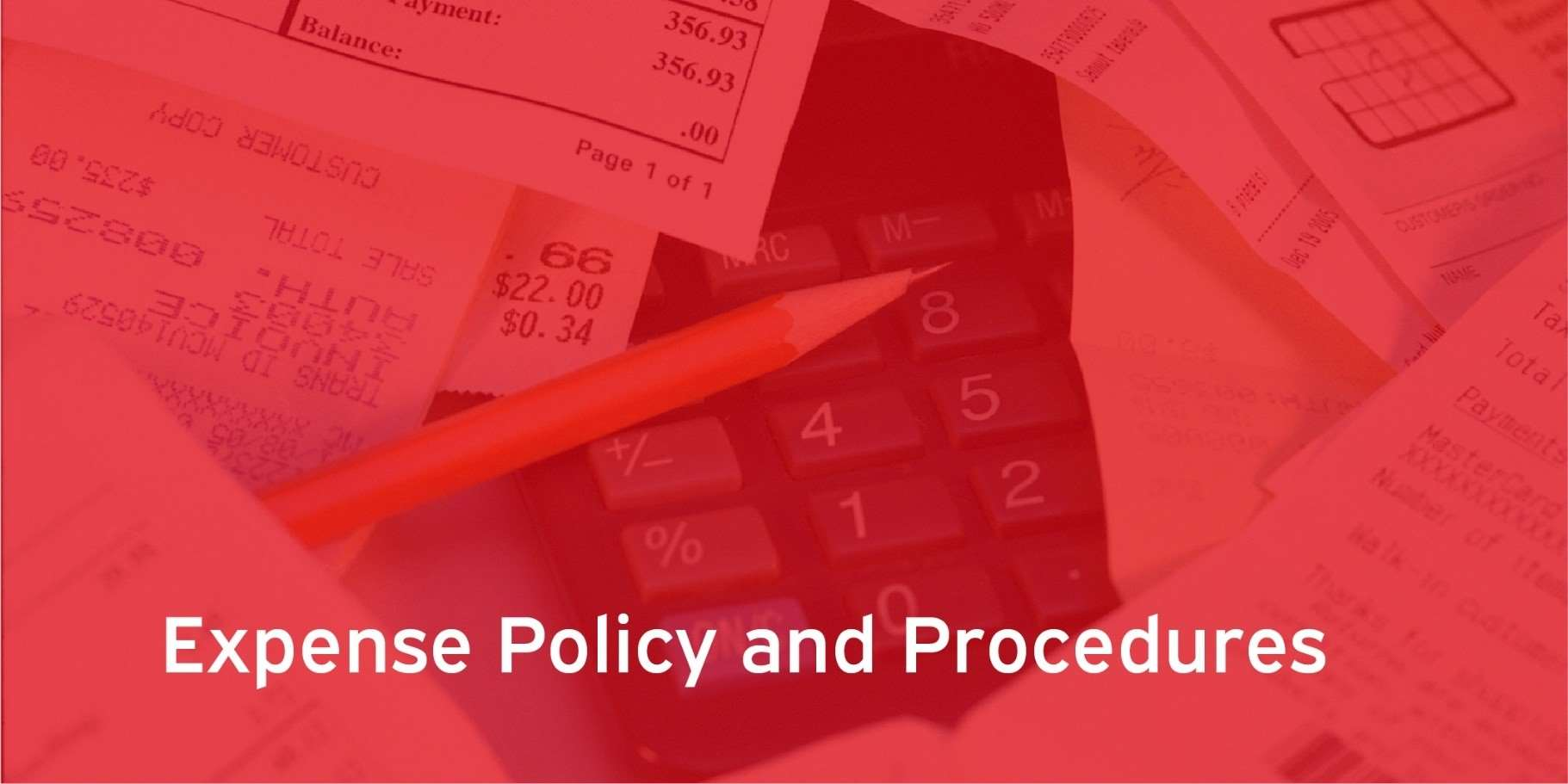 Expense policy and procedures services banner